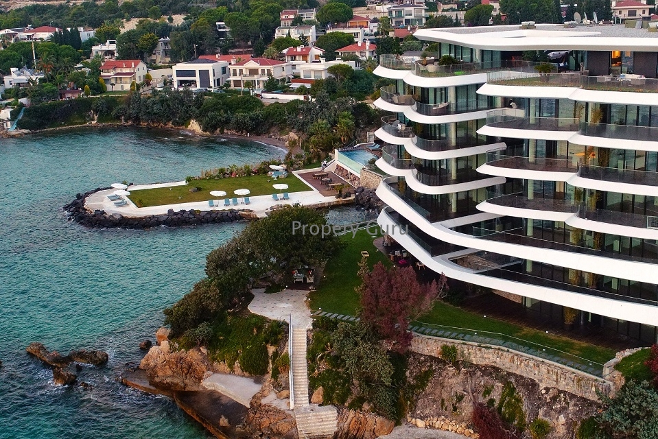 sea view property in cesme for sale